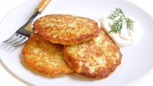 Krobedad-kartulipannkoogid