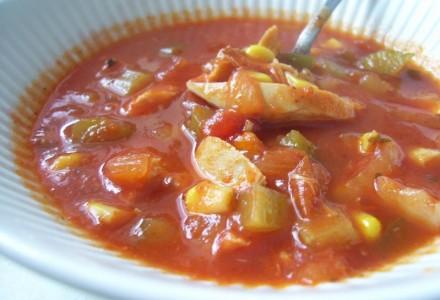 Kanasupp tomatiga