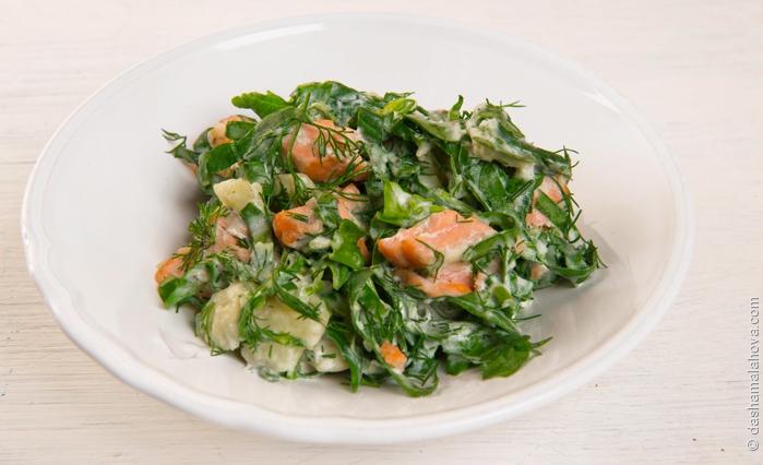 Lõhe-spinatisalat